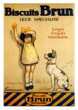 Biscotti Brun, in francese Stampa di George Redon