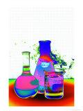 Laboratory Glassware Designs Fotografisk tryk af David M. Dennis