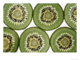 Cross Section of Kiwi Fruit Photographic Print by David M. Dennis