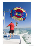 Parasailing, Venice, Florida Photographic Print by David M. Dennis
