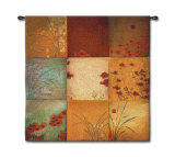 Poppy Nine Patch Wall Tapestry by Don Li-Leger