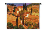 Terracotta Afternoon Wall Tapestry by Philip Craig