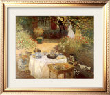Luncheon in the Garden Poster by Claude Monet