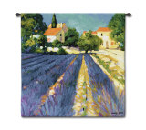 Lavender Fields Wall Tapestry by Philip Craig