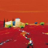 Terre des Ocres Rouges Affiches par Christian Eurgal