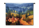 Tuscan Valley View Wall Tapestry by Philip Craig
