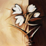 Split Flowers Freesia Print by Alfred Gockel