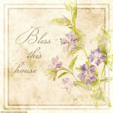 Florals, Bless This House Poster von Jessica Vonammon