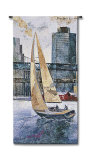 Sailing in the Afternoon Wall Tapestry by  Borafull