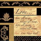 Ord å leve etter: Kjærlighet Plakater av Debbie DeWitt