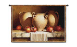 Urns with Persimmons Wall Tapestry by Loran Speck