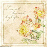 Florals, Live Laugh Love Prints by Jessica Vonammon
