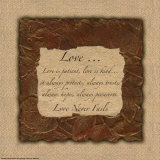 Words to Live By: Love Is Patient Prints by Smith-Haynes 