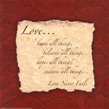 Words to Live By: Love Bears All Kunst av  Smith-Haynes