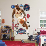 LeBron James Throwback White Jersey Wall Decal