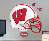 Wisconsin Badgers Helmet -Fathead Wall Decal