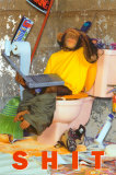 Sh*t- Chimp On The Toilet Posters