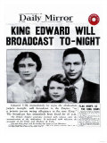 King Edward Will Broadcast Tonight Giclee Print