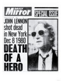 Death of a Hero, John Lennon Shot Dead in New York Dec 8 1980 Reproduction procédé giclée