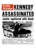 Kennedy assassiné Reproduction procédé giclée