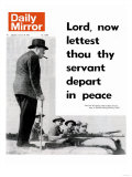 Lord, Now Lettest Thou Thy Servant Depart in Peace Reproduction procédé giclée