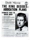 The King Decides: Abdication Plans Giclee Print