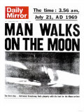 Man Walks on the Moon Premium Giclee Print