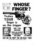 Whose Finger Today Your Finger is on the Trigger Giclee Print
