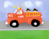 Fire Truck Posters by Anthony Morrow