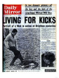 Living for Kicks Giclee Print