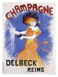 Champagne Delbeck Reims Giclee Print by Leonetto Cappiello