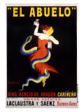 El Abuelo, Vino Rancio de Aragon Lmina gicle por Leonetto Cappiello