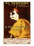 La Rose Jacqueminot Coty Giclee Print by Leonetto Cappiello