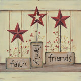 Faith Family Friends Print by Karen Tribett