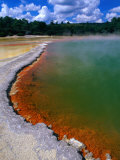 Boiling Thermal Waters of Champagne Pool, Waiotapu, Bay of Plenty, New Zealand Photographic Print by Gareth McCormack