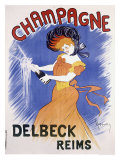 Champagne Delbeck Reims Giclee Print by Leonetto Cappiello