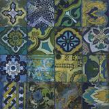 Cobalt Mosaic II Plakat af John Douglas