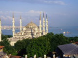 Sultan Ahmet Camii (Blue Mosque) and the Bosphorus Strait, Istanbul, Istanbul, Turkey Photographic Print by Diana Mayfield