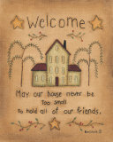 Welcome Print by Kim Lewis