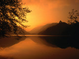 Sunset Reflecting on the Alpsee, Bavaria, Germany Photographic Print by Thomas Winz