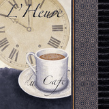 L'Heure du Cafe Prints by Linda Wood