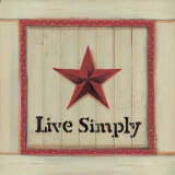 Live Simply Print by Karen Tribett