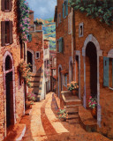 Tuscan Walkway Art by Guido Borelli