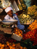 Fruit and Vegetable Vendor in the Luxor Souq, Luxor, Egypt Photographic Print by Patrick Syder