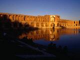 Sunset Illuminates Pol-E Khaju Bridge, Esfahan, Iran Photographic Print by Jane Sweeney