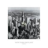 Perfil de rascacielos de Nueva York, primavera Pósters