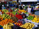 Fruit and Vegetable Stall at Moore Street Market, Dublin, Ireland Photographic Print by Oliver Strewe