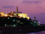 Sunset Behind Coastal Town of Jaffa, Tel Aviv, Israel Fotografie-Druck von Eddie Gerald