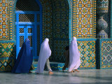 Worshippers Visiting Shrine of Hazrat Ali (Blue Mosque), Mazar-E Sharif, Afghanistan Photographic Print by Stephane Victor
