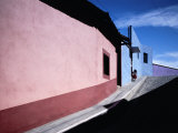 Colourful Buildings in Street, Real Del Monte, Mexico Photographic Print by Jeffrey Becom